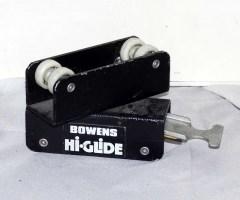 Bowens Hi-Glide . Carrello frenante doppio con staffa per binari