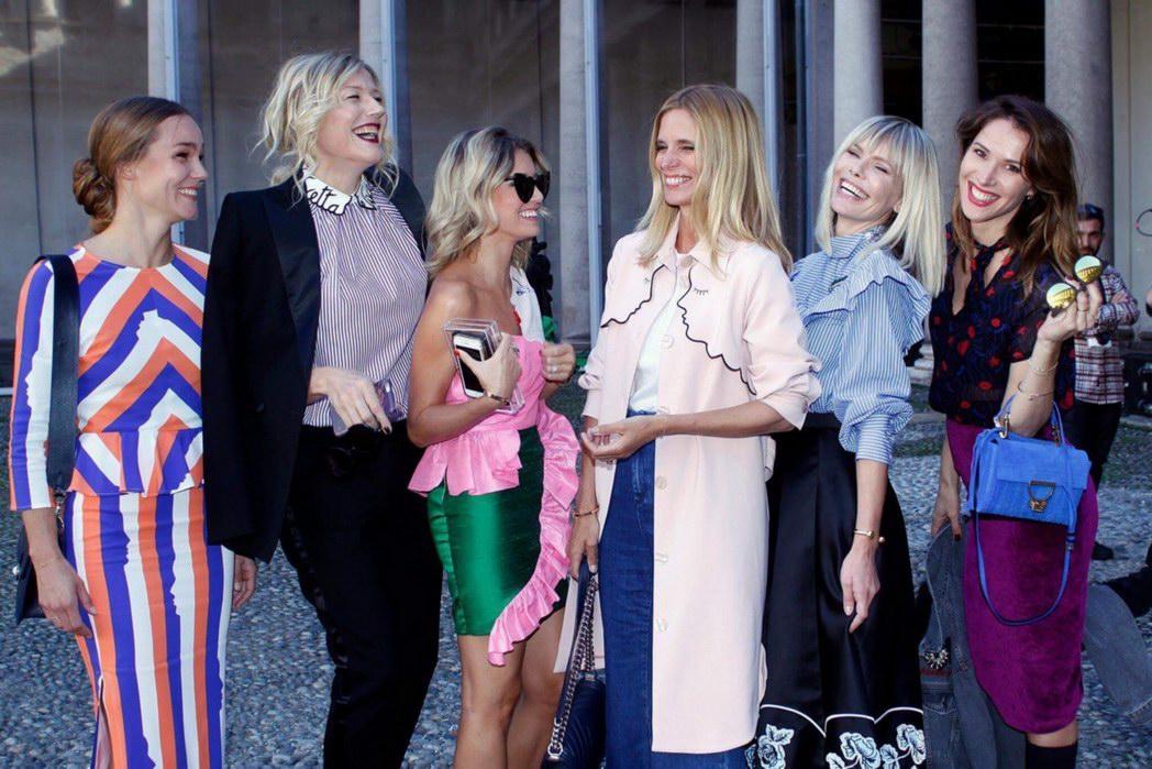 Filippa Lagerback, Elena Barolo, Natasha Stefanenko, Filippa Lagerback, Barbara Snellenburg, Ludovica Sauer (Photo by Giuseppe Spena)