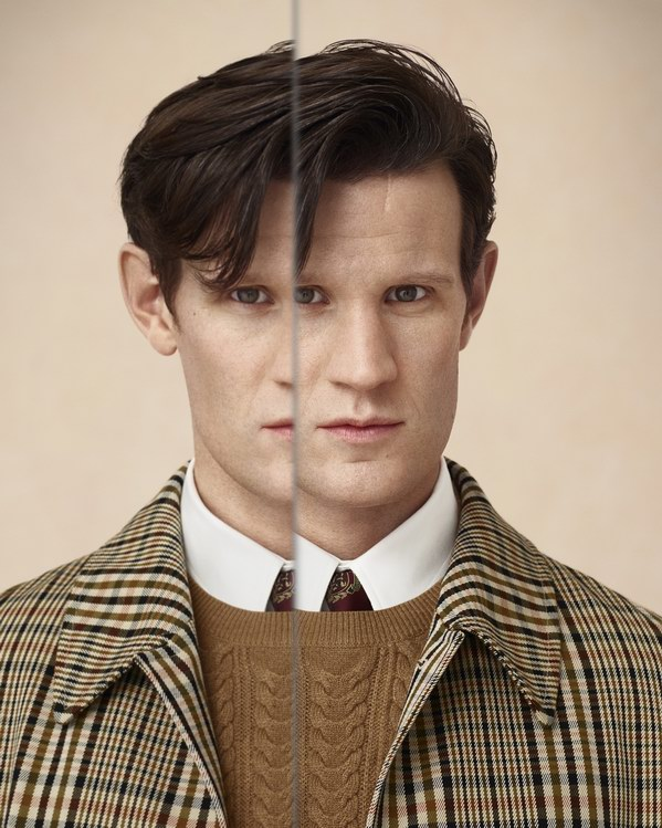 Portrait of Matt Smith . photo © Burberry