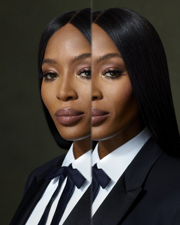 Portrait of Naomi Campbell . photo © Burberry