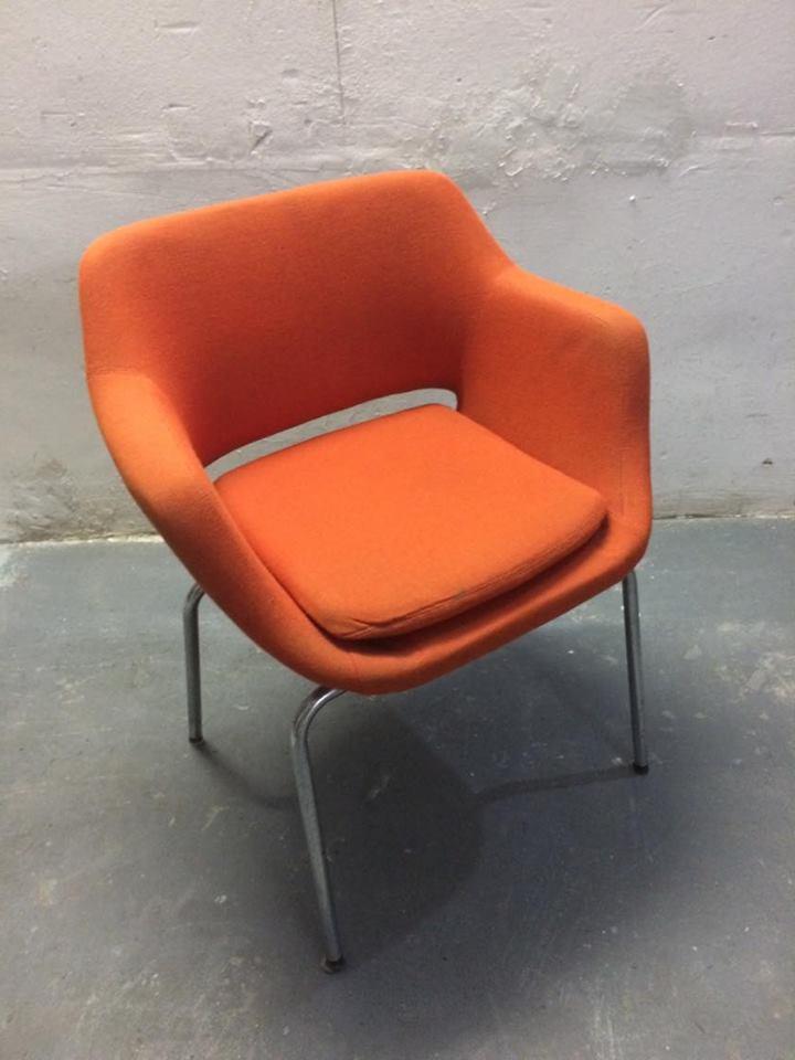 Set due poltrone fisse ufficio design vintage anni 60 - Poltrone vintage design ...