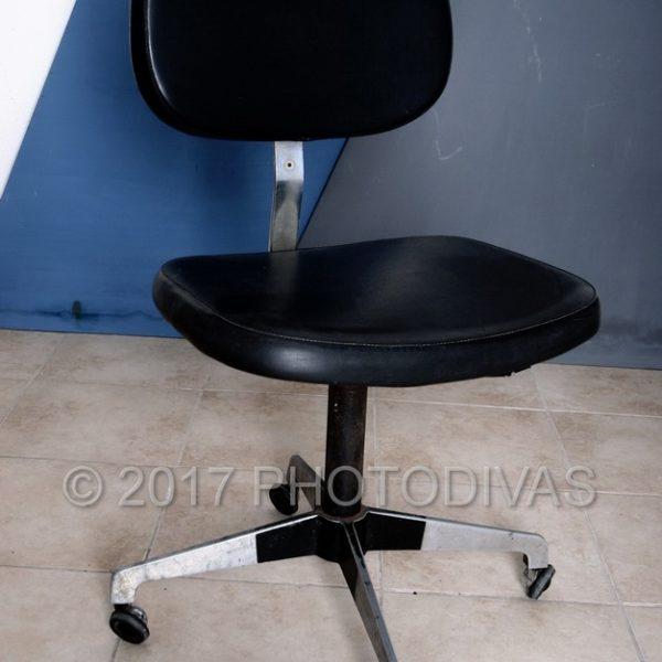 Sedia ufficio vintage con rotelle anni 70 - Sedia con rotelle per ufficio ...