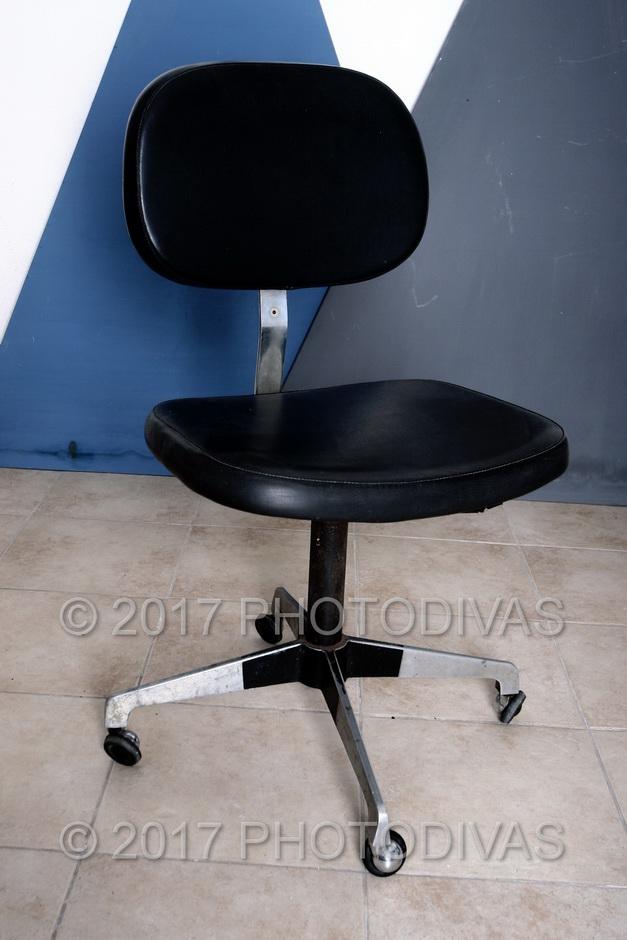 Sedia ufficio vintage con rotelle Anni 70